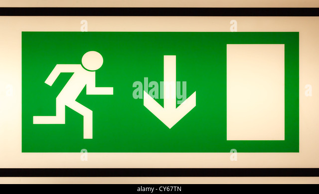 Emergency Exit Sign Stock Photos Emergency Exit Sign Stock