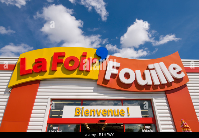 Ula foir fouilleu logo commercial store sign france stock - Table de jardin la foir fouille aixen provence ...