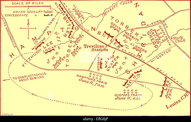 United States Civil War Map Stock Photos United States Civil War - Us map civil war battles