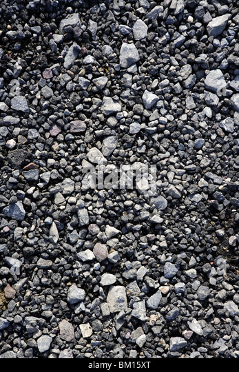 gravel gray stone textures for asphalt mix concrete - Stock Image