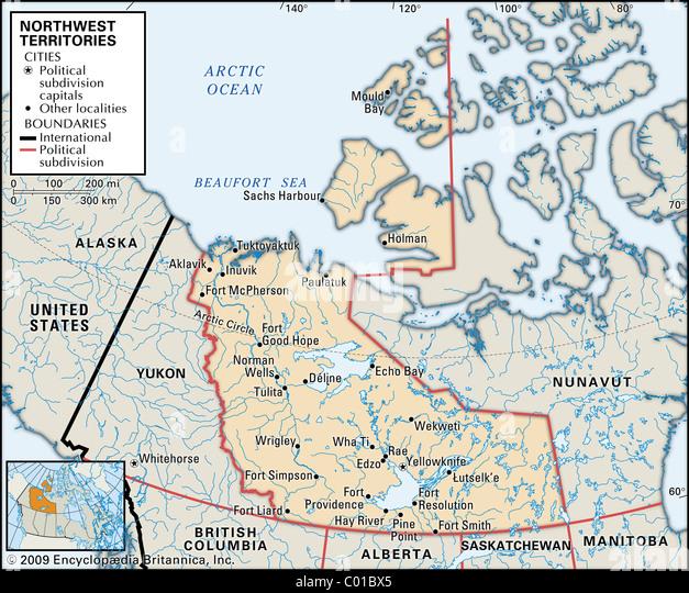 Northwest territories map stock photos northwest territories map map of northwest territories stock image gumiabroncs Images