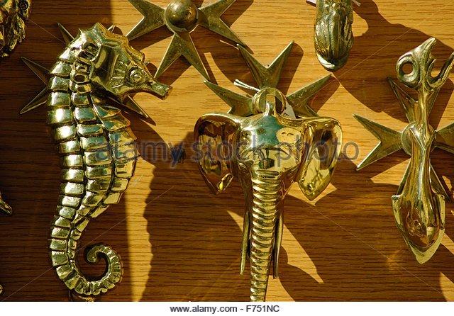 Brass door knockers stock photos brass door knockers stock images alamy - Seahorse door knocker ...