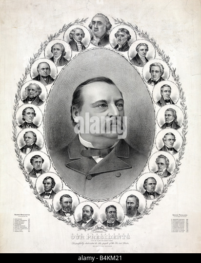 former presidents of the united states of america c1888 stock image - Presidents Of The United States Of America