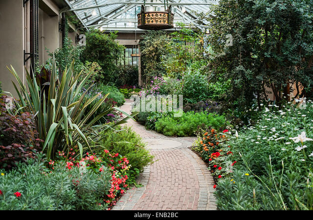 Conservatory, Longwood Gardens, Pennsylvania, USA   Stock Image