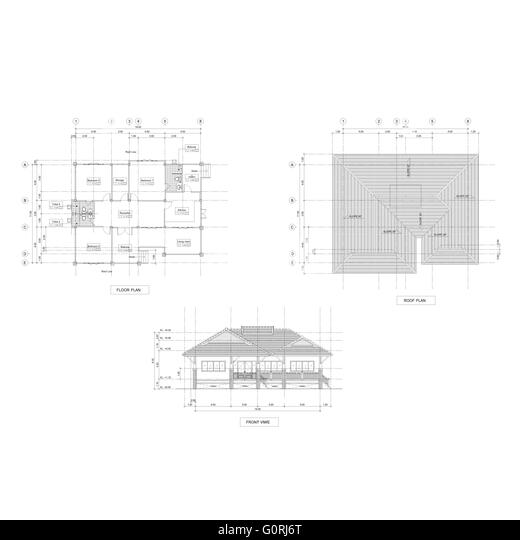 Plan And Elevation Of Cylinder : Drawing elevation stock photos