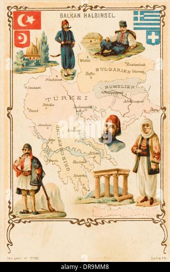 Balkans Map Stock Photos  Balkans Map Stock Images  Alamy