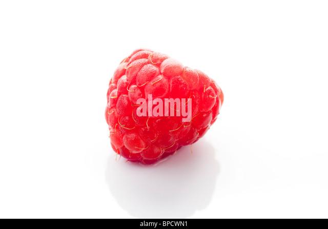 Ripe Raspberries Isolated On White Background Stock Photo ...