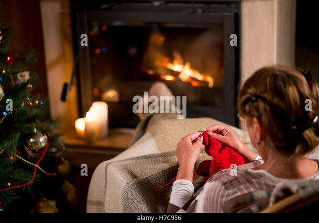 Sitting In Front Of Fireplace Stock Photos & Sitting In Front Of ...