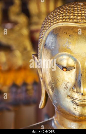 Golden Buddha Half Face You Can Feel Peace