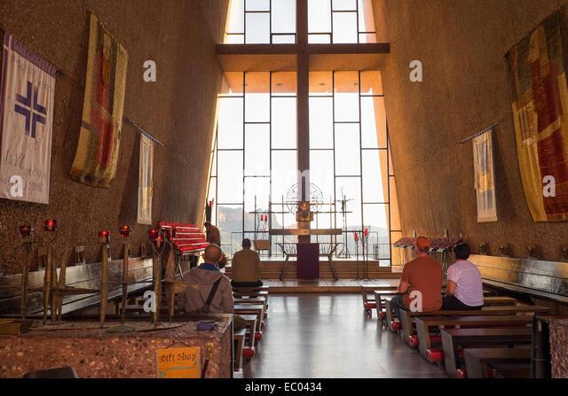 Inside The Chapel Of The Holy Cross Church, Sedona, Arizona, USA.