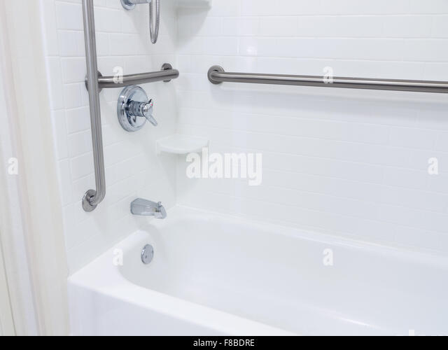 handicapped disabled access bathroom bathtub shower with grab bars