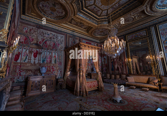 Royal Bedroom In Fontainebleau Palace, France   Stock Image