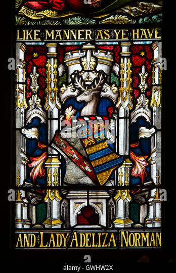 Church Monuments Heraldic Devices And Stained Glass