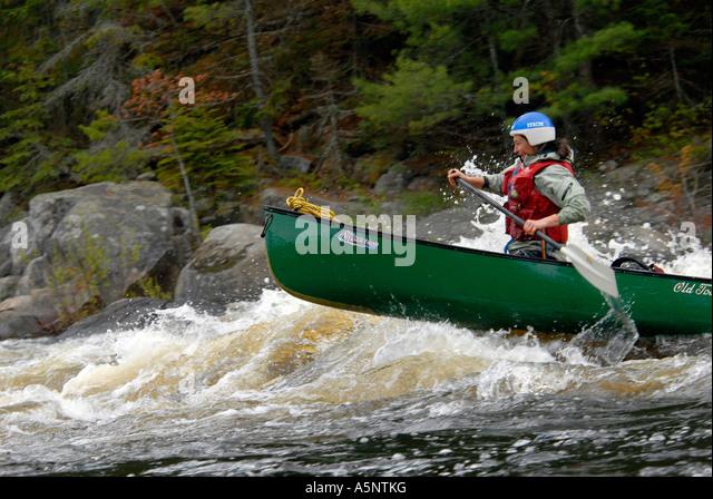 White water canoeing