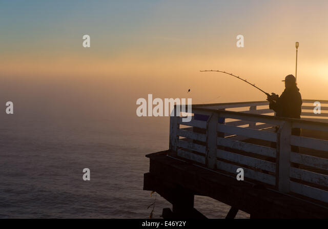 Pacific beach crystal pier san diego stock photos for Crystal pier fishing
