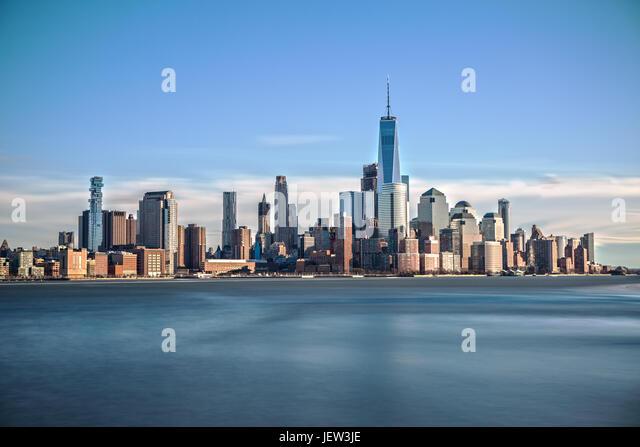 Downtown Manhattan Long Exposure - Stock Image