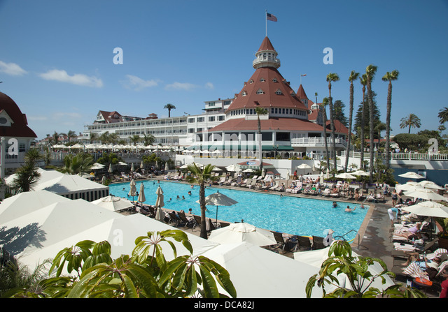 Swimming pool hotel del coronado stock photos swimming - Clairemont swimming pool san diego ca ...