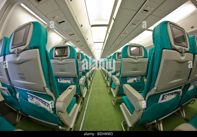 Photo of the passenger cabin of a commercial airliner. - Stock Image & Reclining Seat Plane Stock Photos \u0026 Reclining Seat Plane Stock ... islam-shia.org