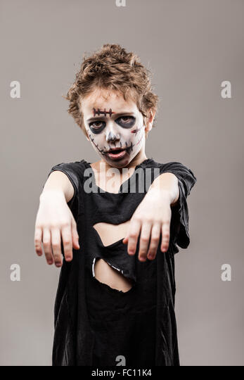 Child Makeup Halloween Vampire Stock Photos & Child Makeup ...