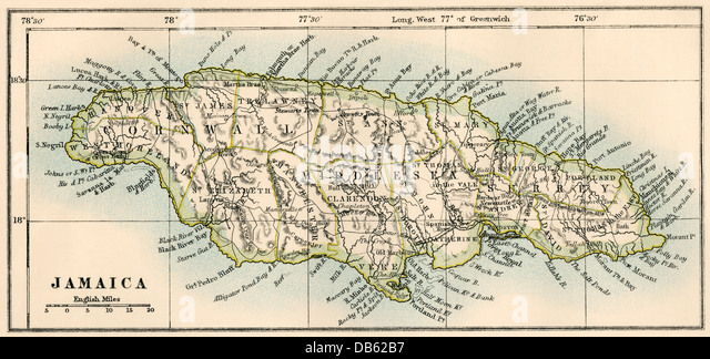Old Map Of Jamaica Stock Photos Images: Old Map Of Jamaica At Infoasik.co