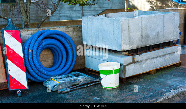 Prestressed Concrete Sidewalks : Precast concrete stock photos