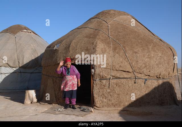Tent life - yurt in Uzbekistan - Stock Image & Tent Life Yurt In Uzbekistan Stock Photos u0026 Tent Life Yurt In ...