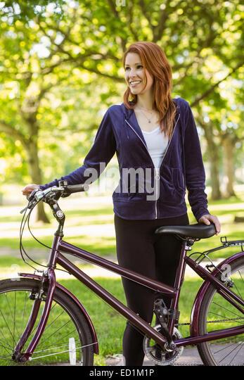 Redhead and bikes