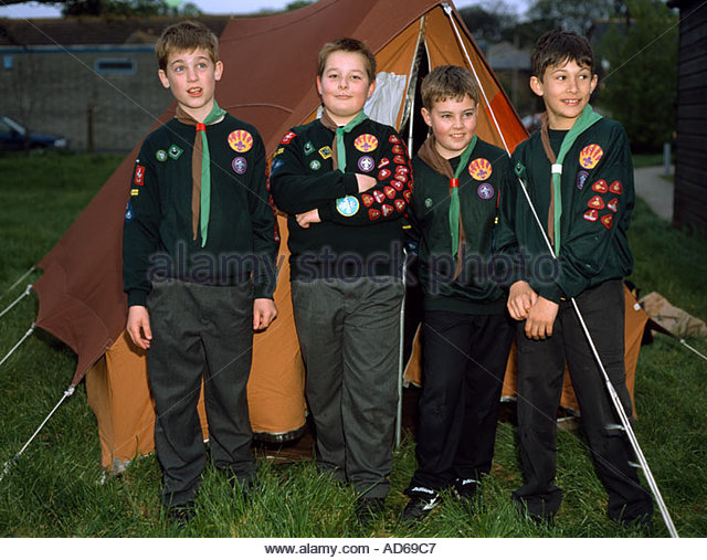 Cub Scouts outside their tent on c& Margate Kent UK - Stock Image  sc 1 st  Alamy & Scout Scouting Tent Stock Photos u0026 Scout Scouting Tent Stock ...