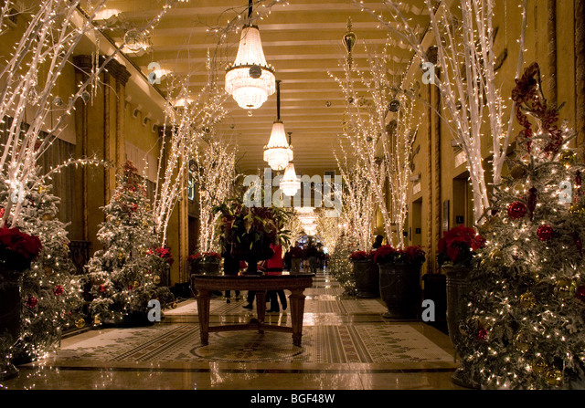 Christmas Decorations In Hotel Lobby : Roosevelt hotel stock photos