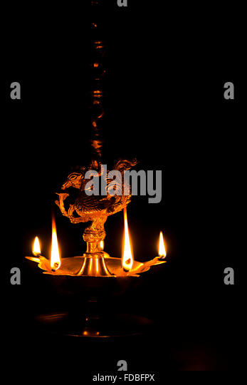 Indian Festival Diwali Hanging Oil Lamp Nobody