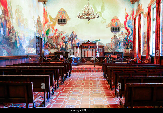 Court room usa stock photos court room usa stock images for Mural room santa barbara courthouse