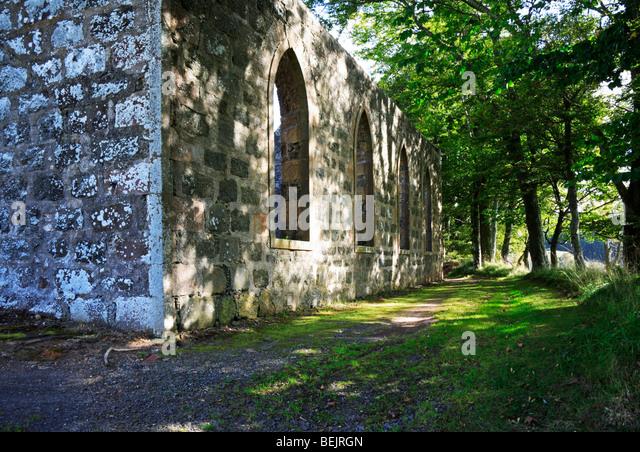 Ruins Croft Moss Tolophin Near Auchindoir Stock Photo ...