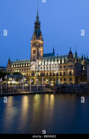 Exterior View Night Shot Europe Building Buildings Stock Image
