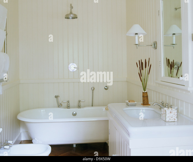 tongue and groove interior stock photos amp tongue and roll top bath shower bathroom our house new bathroom