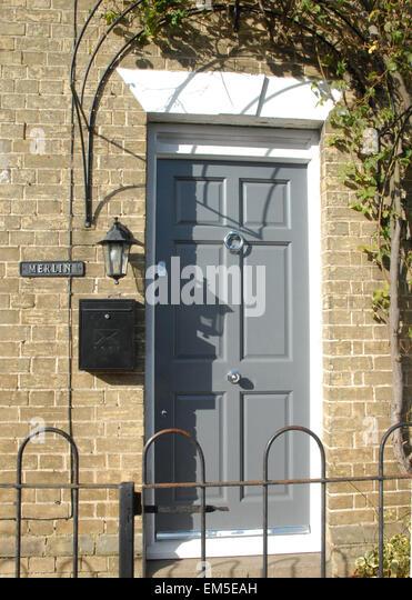 grey front doorGrey Front Door House Stock Photos  Grey Front Door House Stock