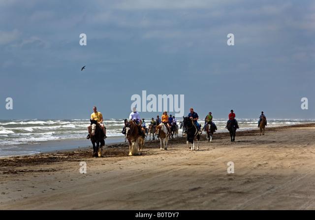 Horseback Riding On The Beach Near Port Aransas Tx