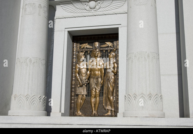 Ancient egyptian design in mausoleum building with bronze doors and columns. - Stock Image & Mausoleum Crypt Door Stock Photos \u0026 Mausoleum Crypt Door Stock ... Pezcame.Com