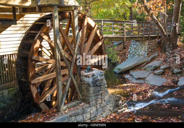 Marble Water Wheels : Stone grist mill stock photos