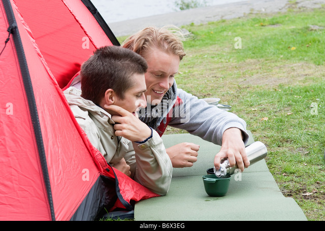 Two guys in a red tent - Stock Image  sc 1 st  Alamy & The Red Tent Stock Photos u0026 The Red Tent Stock Images - Alamy