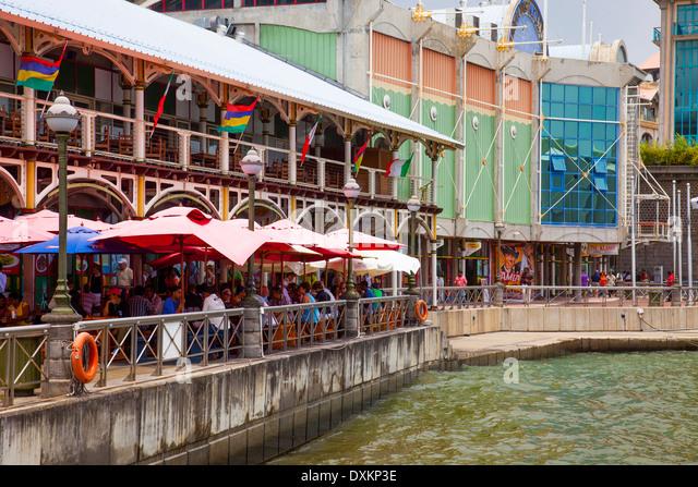 Caudan waterfront mauritius stock photos caudan - Restaurants in port louis mauritius ...