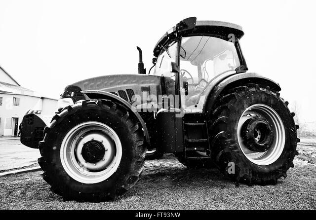 Tractor Black and White Stock Photos & Images - Alamy