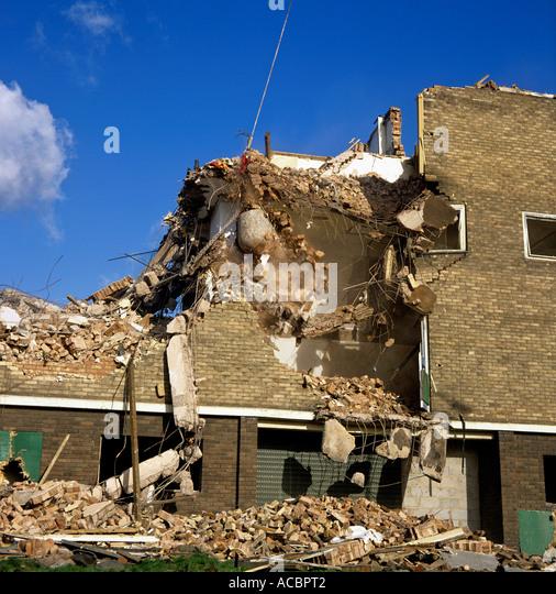 Wrecking Ball Building : Building demolition with wrecking ball pixshark