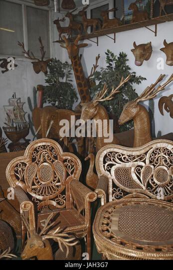 Portugal,Madeira,Camacha,wickerwork,craft, - Stock Image