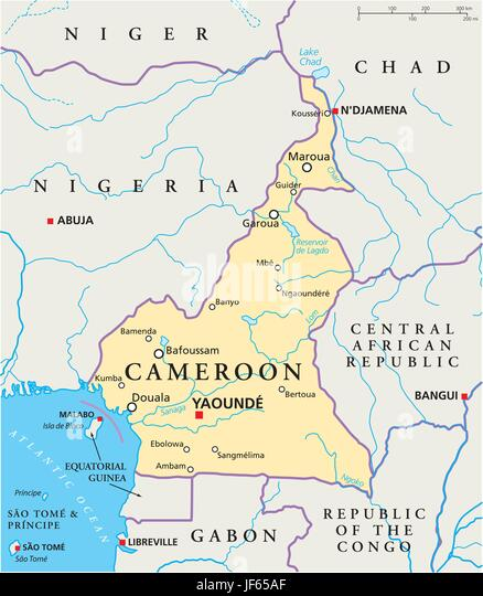 Cameroon Map Stock Photos Cameroon Map Stock Images Alamy - Cameroon map