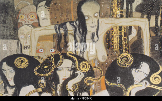 Gustav Klimt Beethoven Frieze Stock Photos & Gustav Klimt ...
