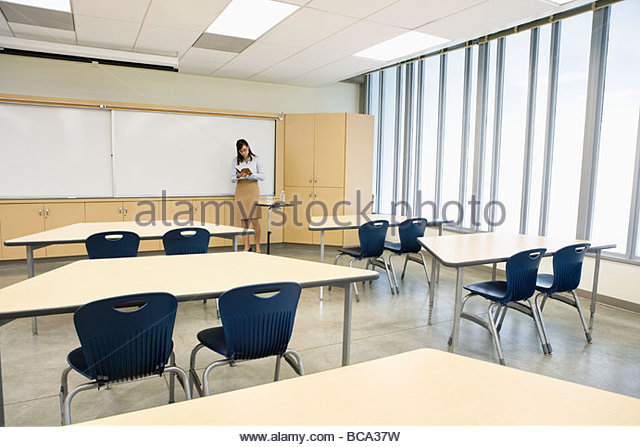 empty classroom with teacher - photo #8