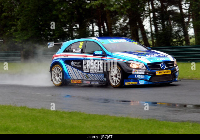 Dalton On Tees, UK. 10, June, 2017. Aiden Moffat driving car number 16, the Mercedes-Benz A-Class for Laser tools - Stock Image