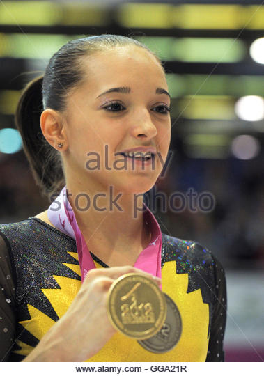 Larisa <b>Andreea Iordache</b> of Romania poses with her medals after the podium ... - larisa-andreea-iordache-of-romania-poses-with-her-medals-after-the-gga21r