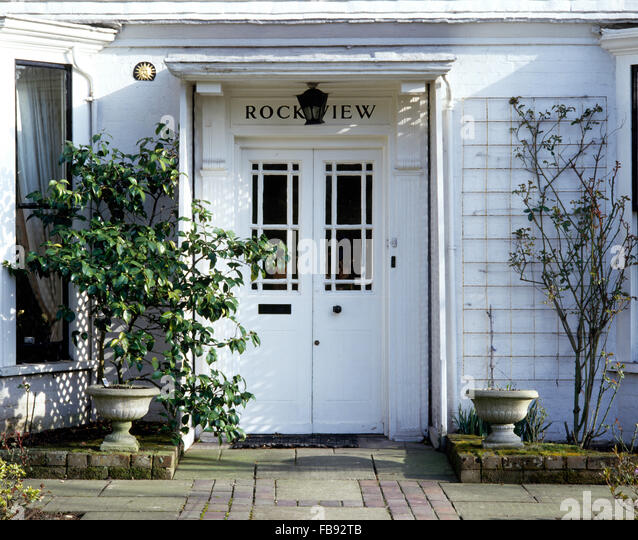 House exterior double front stock photos house exterior for White exterior double doors