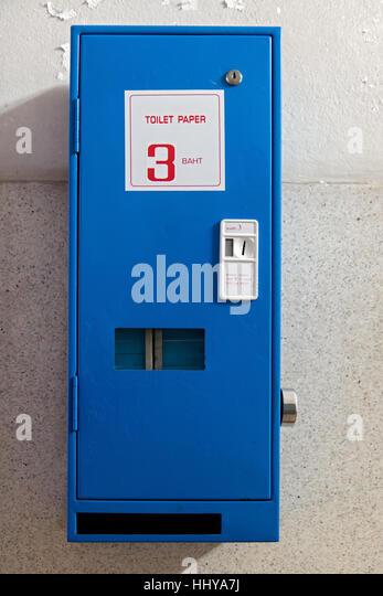 Slot machine toilet paper dispenser